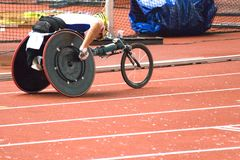 Wheel Chair Race for Disabled Persons stock photos