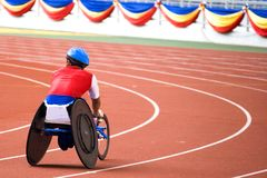 Wheel Chair Race for Disabled Persons.  Royalty Free Stock Photography