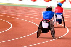 Wheel Chair Race for Disabled Persons Royalty Free Stock Image