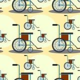 Wheel chair seamless background design Stock Image