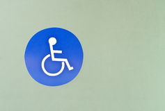 Wheel chair sign Stock Photography