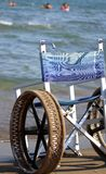Wheel chair with steel wheels Stock Photography