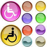 Wheel Chair Symbol Royalty Free Stock Images