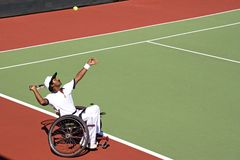 Wheel Chair Tennis for Disabled Persons (Men) Stock Images