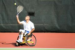Wheel Chair Tennis for Disabled Persons (Men) Stock Photography