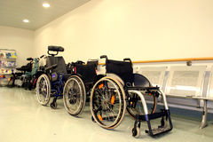 Wheel chairs Royalty Free Stock Images