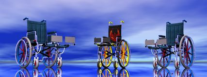 Wheel chairs Royalty Free Stock Image
