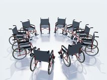 Wheel chairs Royalty Free Stock Photography