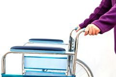 Wheel chairs standby for help a old people Royalty Free Stock Photo
