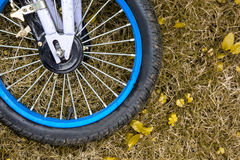 Wheel of child bike Stock Photos