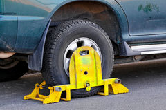Wheel clamp Royalty Free Stock Photography