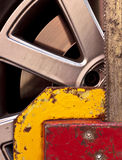 Wheel clamp stock images