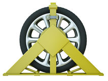 Wheel clamp Royalty Free Stock Images
