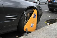 Ireland/Dublin: Wheel Clamp Royalty Free Stock Image