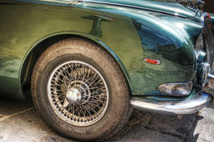 Wheel of a classic car in hdr Stock Images