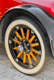 Wheel of the classic vintage oldtimer car Royalty Free Stock Image