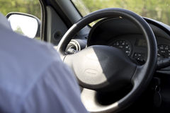 Wheel close up. Man driving a car - close up stock images