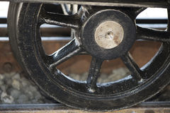 Wheel of a cogwheel rail locomotive Stock Photos