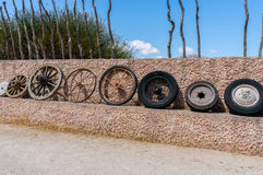 Wheel collection evolution of technology Royalty Free Stock Photography