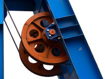 Wheel conducting in movement Royalty Free Stock Photo