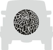 Wheel Cover - Giraffe Royalty Free Stock Images