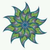 Wheel Cycled Pastel Mandala Stock Image