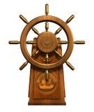 Wheel des Kapitäns - enthält Ausschnittspfad Stockfotos