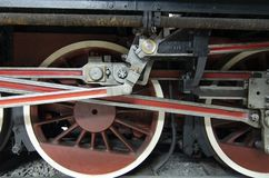 Wheel detail locomotive royalty free stock images