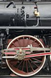 Wheel detail locomotive royalty free stock photography