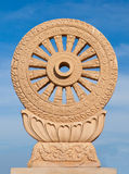 Wheel of dhamma Royalty Free Stock Photography