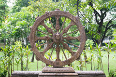 Wheel of Dhamma Royalty Free Stock Photo