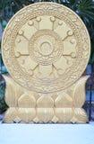 Wheel of Dhamma Buddhism Royalty Free Stock Photos
