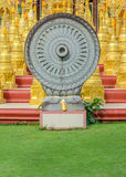 Wheel of dhamma Royalty Free Stock Image