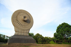 Wheel of Dhamma Stock Image