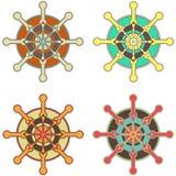 Wheel of Dharma. Set Royalty Free Illustration