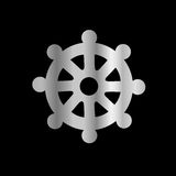 Wheel of Dharma. Symbol Buddhism Royalty Free Stock Images
