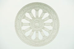 Wheel of dharma on glass Stock Photography