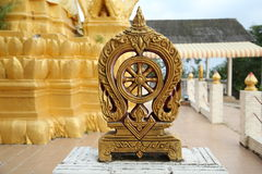 Wheel of Dharma in Wat Sila Ngu Temple, Koh Samui, Thailand. Royalty Free Stock Photos