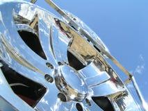 Wheel disk. Shining at the sun Royalty Free Stock Photo
