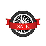 Wheel disk discount banner. Stock Photo
