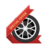 Wheel disk discount banner. Stock Photography
