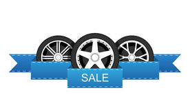 Wheel disk discount banner. Stock Image