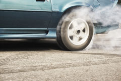 Wheel drifting and smoking Royalty Free Stock Images