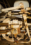 Wheel and drive rods Royalty Free Stock Images