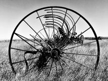 Through the Wheel. Equipment that stands alone from the old times Stock Photography