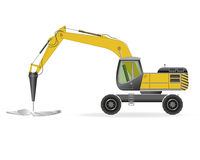 Wheel excavator Stock Photos