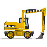 Wheel excavator. Rendering of a wheel excavator with Clipping Path and shadow over white Stock Images
