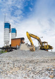 Wheel excavator. At construction site Stock Photo