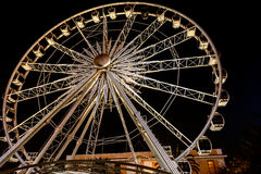 Wheel of Excellence Ferriswheel in Cape Town. Night view at the Wheel of Excellence in Cape Town. It was  South Africa's first observation wheel with 36 cabins Stock Image