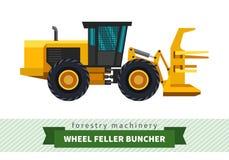 Wheel feller buncher Royalty Free Stock Photos